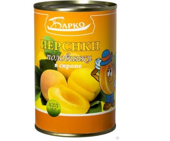 Персики «Барко» в легком сиропе 425мл