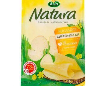 Сыр Арла Натура Сливочный 45% Нарезка 150гр
