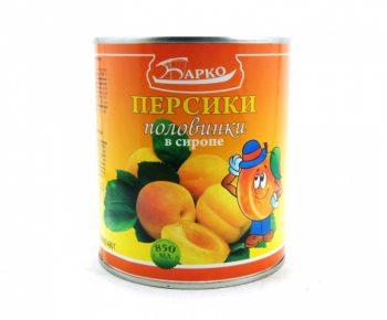 Персики «Барко» в легком сиропе 850гр
