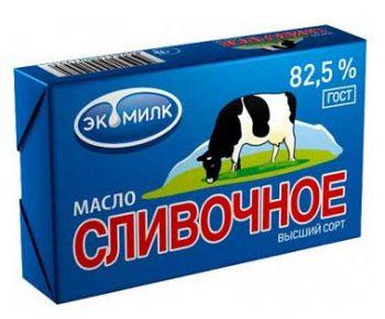 Масло Сливочное «Вологодское» 82,5% 180гр
