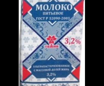 Молоко Тяжин 3,2% 1л