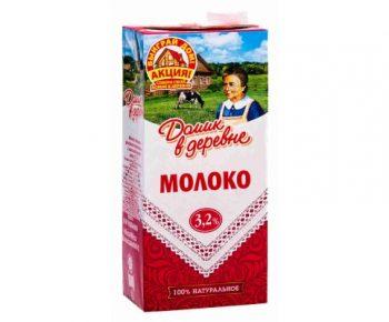 Молоко Домик в Деревне 3,2% 1л