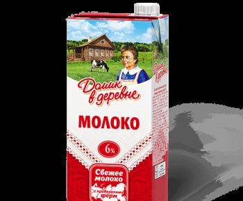 Молоко Домик в Деревне 6% 1л